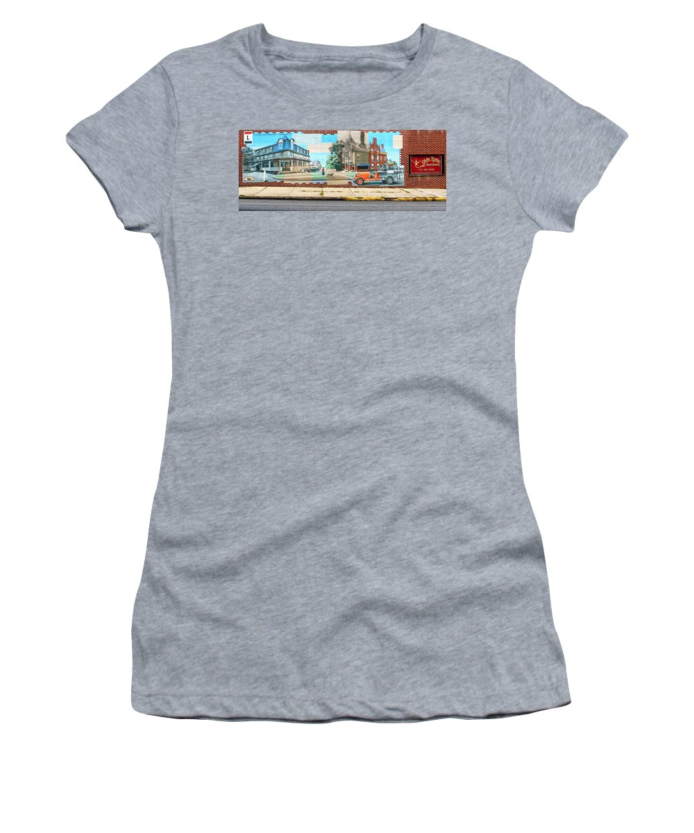 Mural Women's T-Shirt (Athletic Fit) featuring the photograph Street Mural by Dave Mills