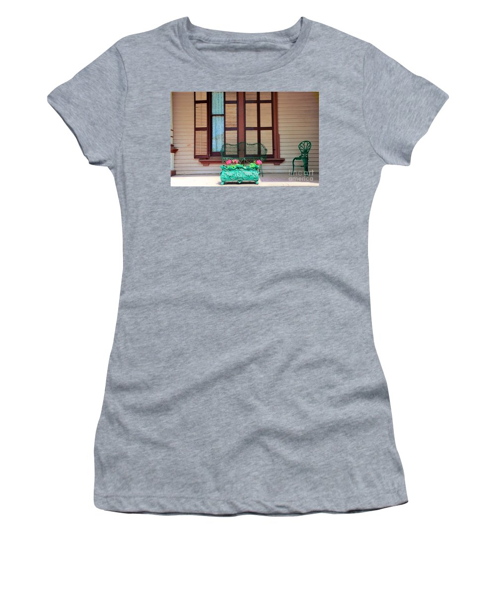Victorian Women's T-Shirt (Athletic Fit) featuring the photograph Summer Furniture by Kathleen Struckle