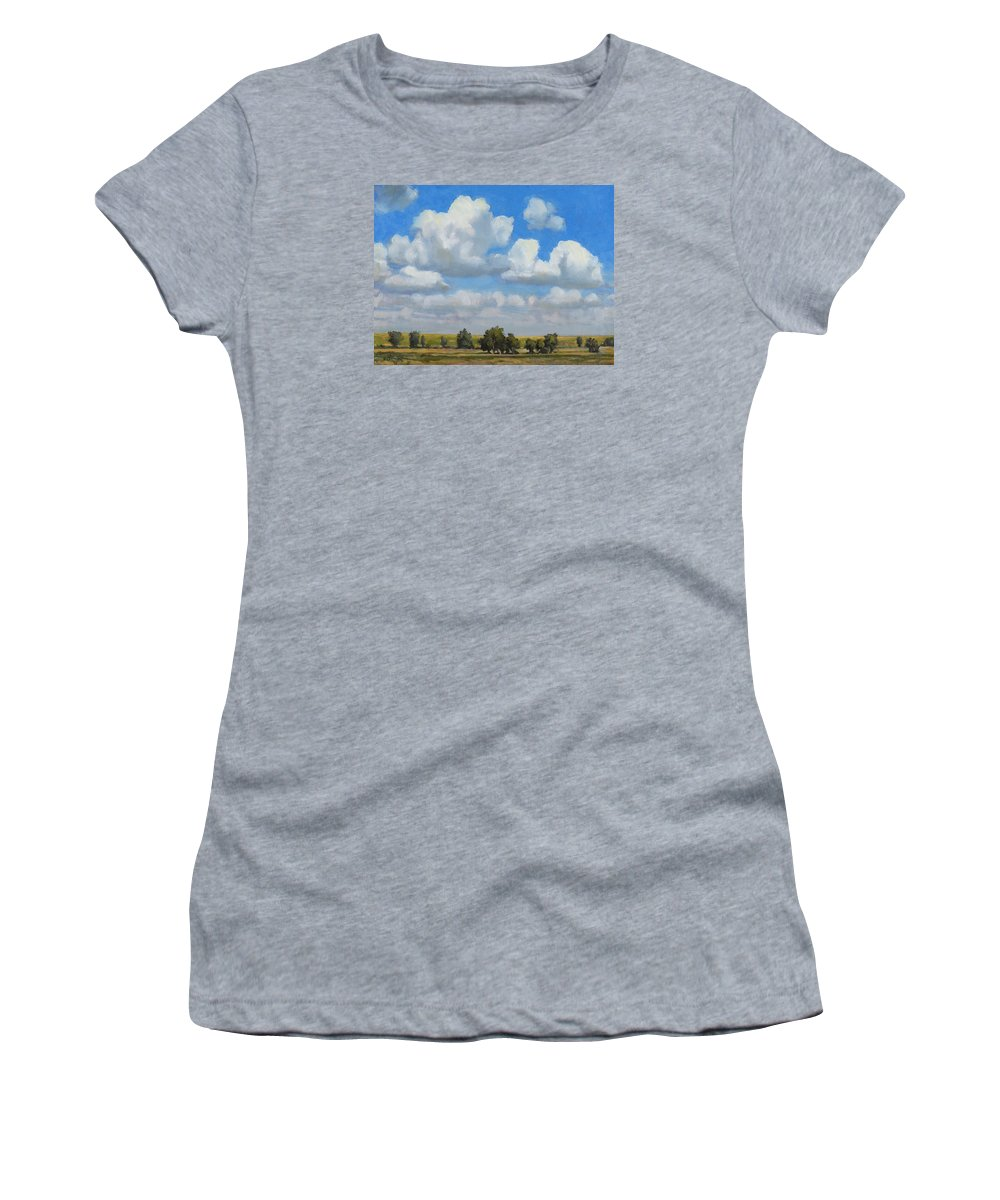 Landscape Women's T-Shirt featuring the painting Summer Pasture by Bruce Morrison