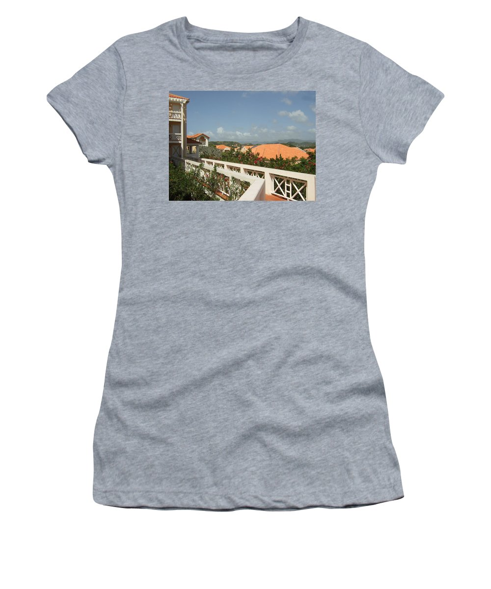 Women's T-Shirt (Athletic Fit) featuring the photograph Sunlit Walk by Katerina Naumenko