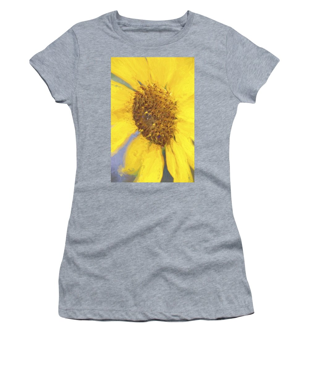 Sunflower Women's T-Shirt featuring the photograph Sunny Yellow by Alice Gipson