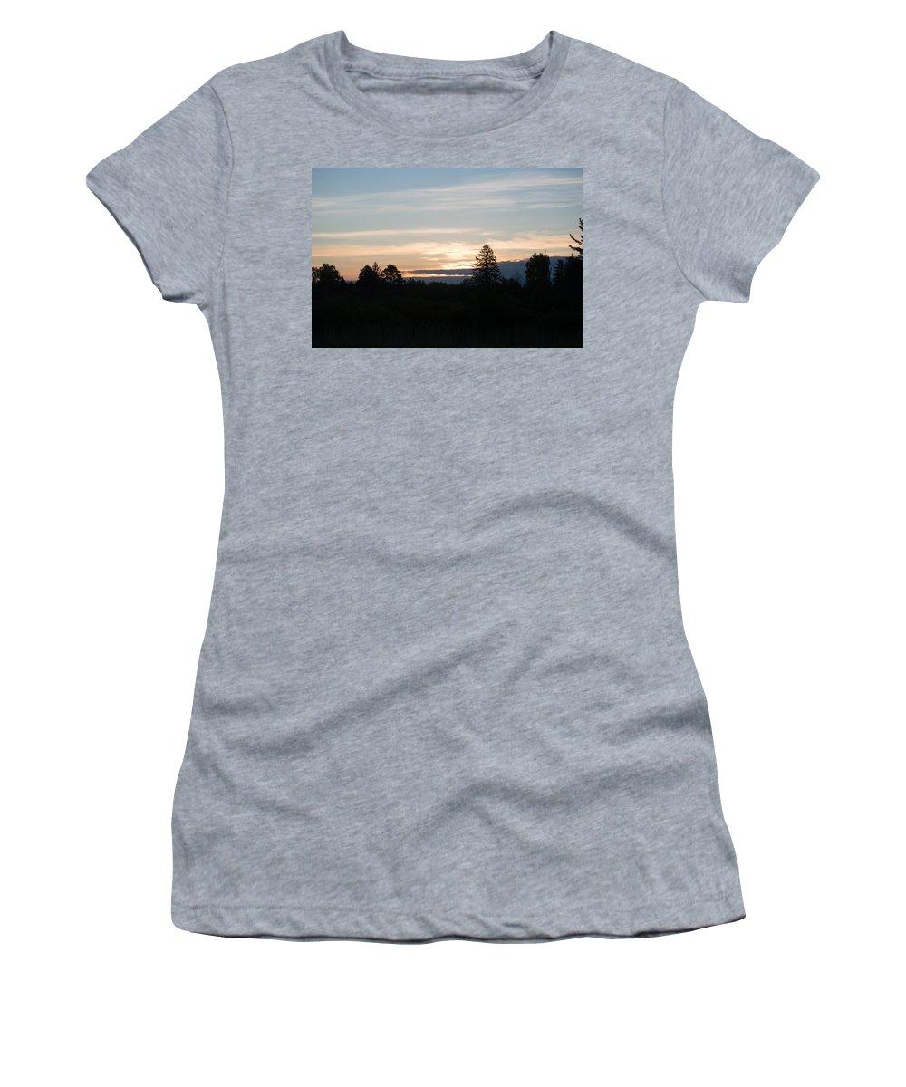 Sunrise Women's T-Shirt (Athletic Fit) featuring the photograph Sunrise by Linda Kerkau
