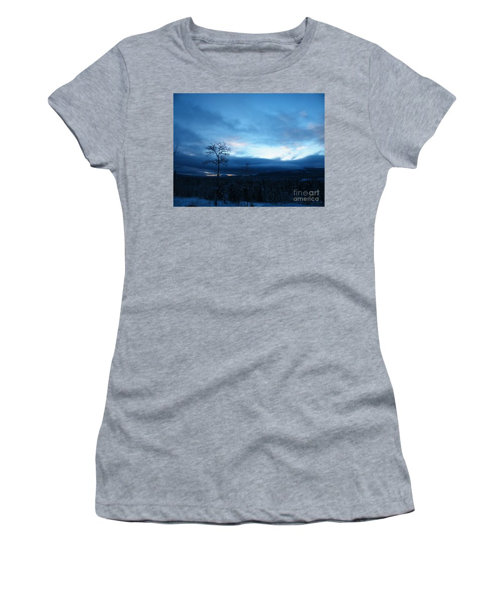 Sentinel Women's T-Shirt featuring the photograph Sunrise Sentinel by Brian Boyle
