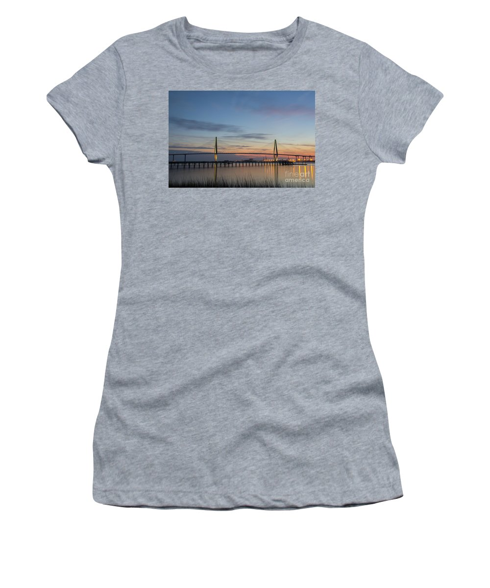 Sunset Women's T-Shirt (Athletic Fit) featuring the photograph Sunset Colors by Dale Powell