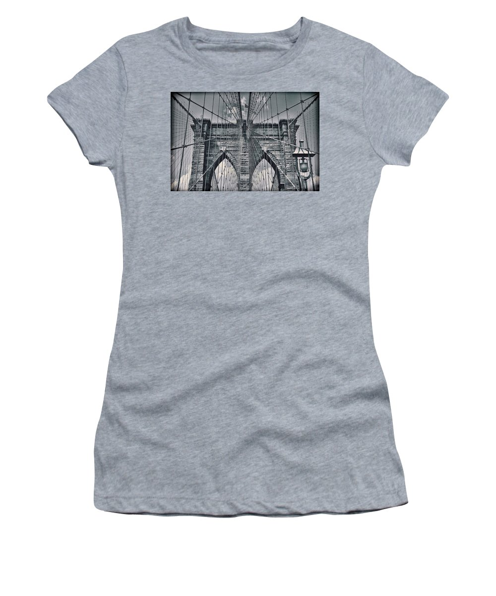 Suspension Bridge Women's T-Shirt featuring the photograph Suspension by Kelley King