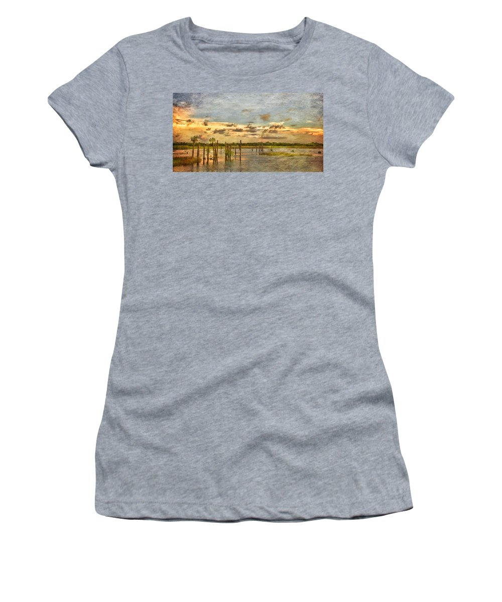 Wetlands Women's T-Shirt featuring the photograph Swamped by Louise Hill