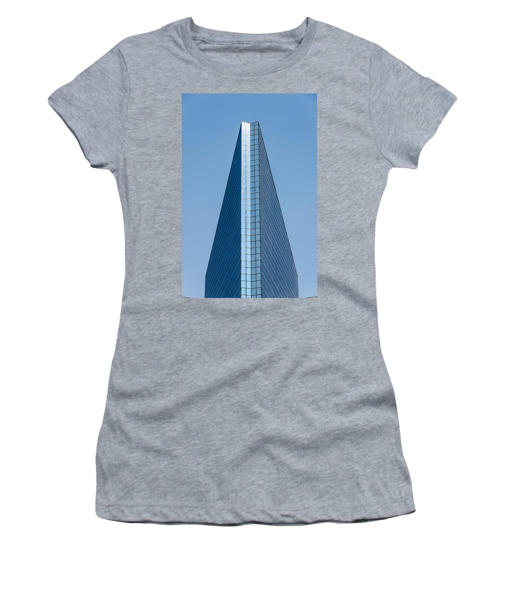 City Women's T-Shirt (Athletic Fit) featuring the photograph Symmetrical Skyscraper by Jess Kraft