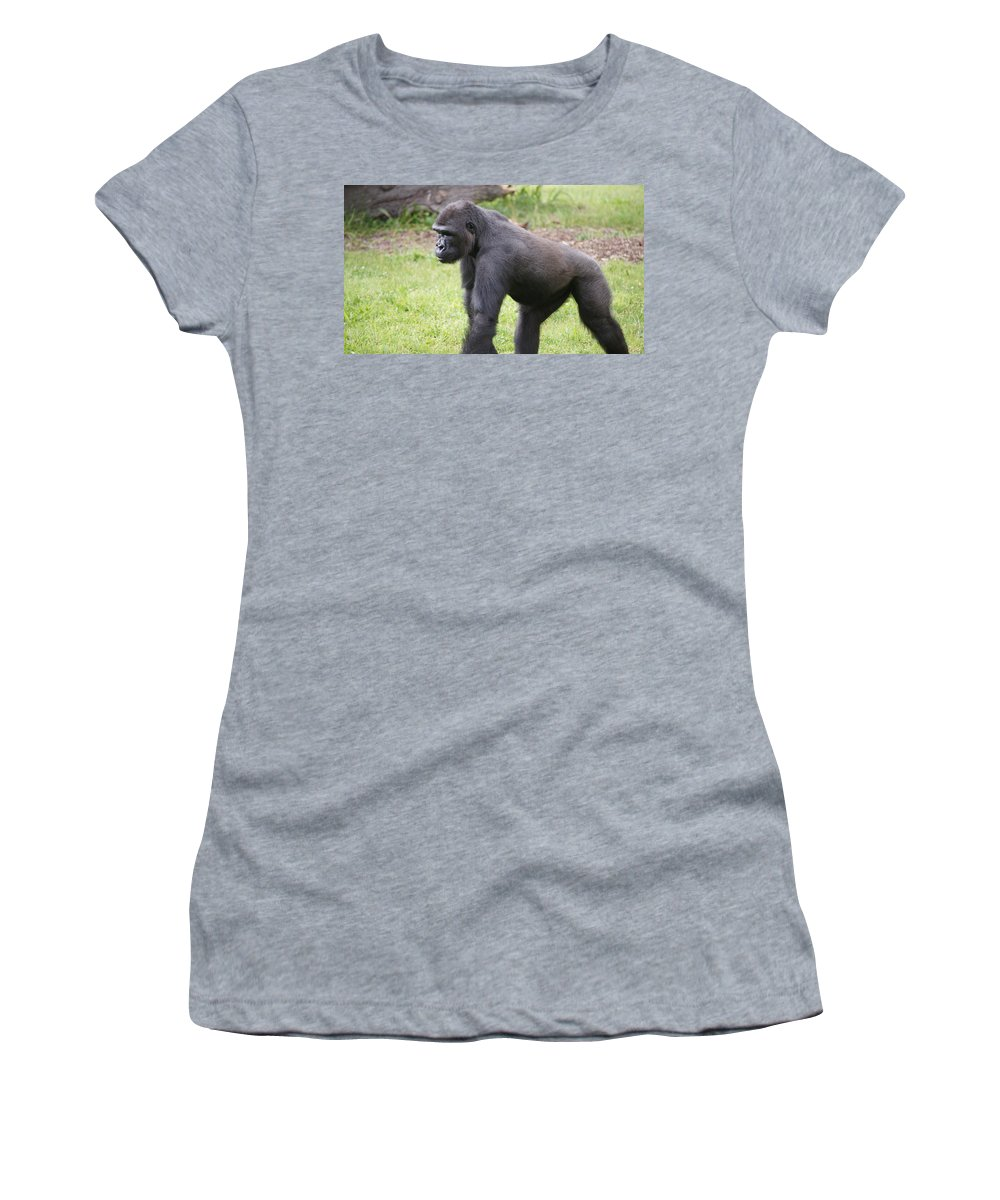 Ape Women's T-Shirt featuring the photograph Taking A Stand by Crystal Harman
