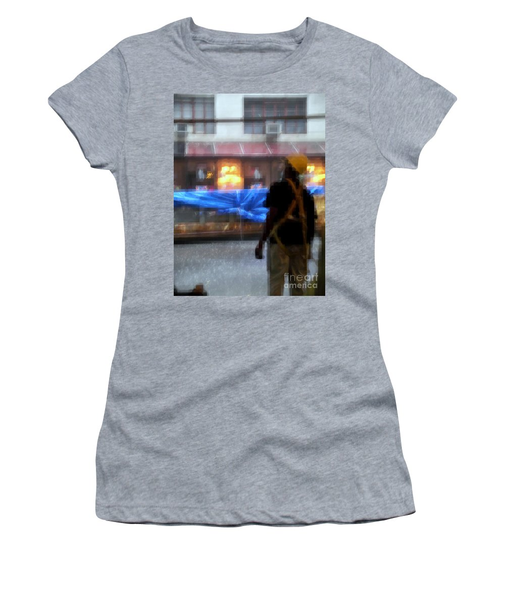 Superheroes Women's T-Shirt (Athletic Fit) featuring the photograph Taking Shelter From The Rain by Miriam Danar