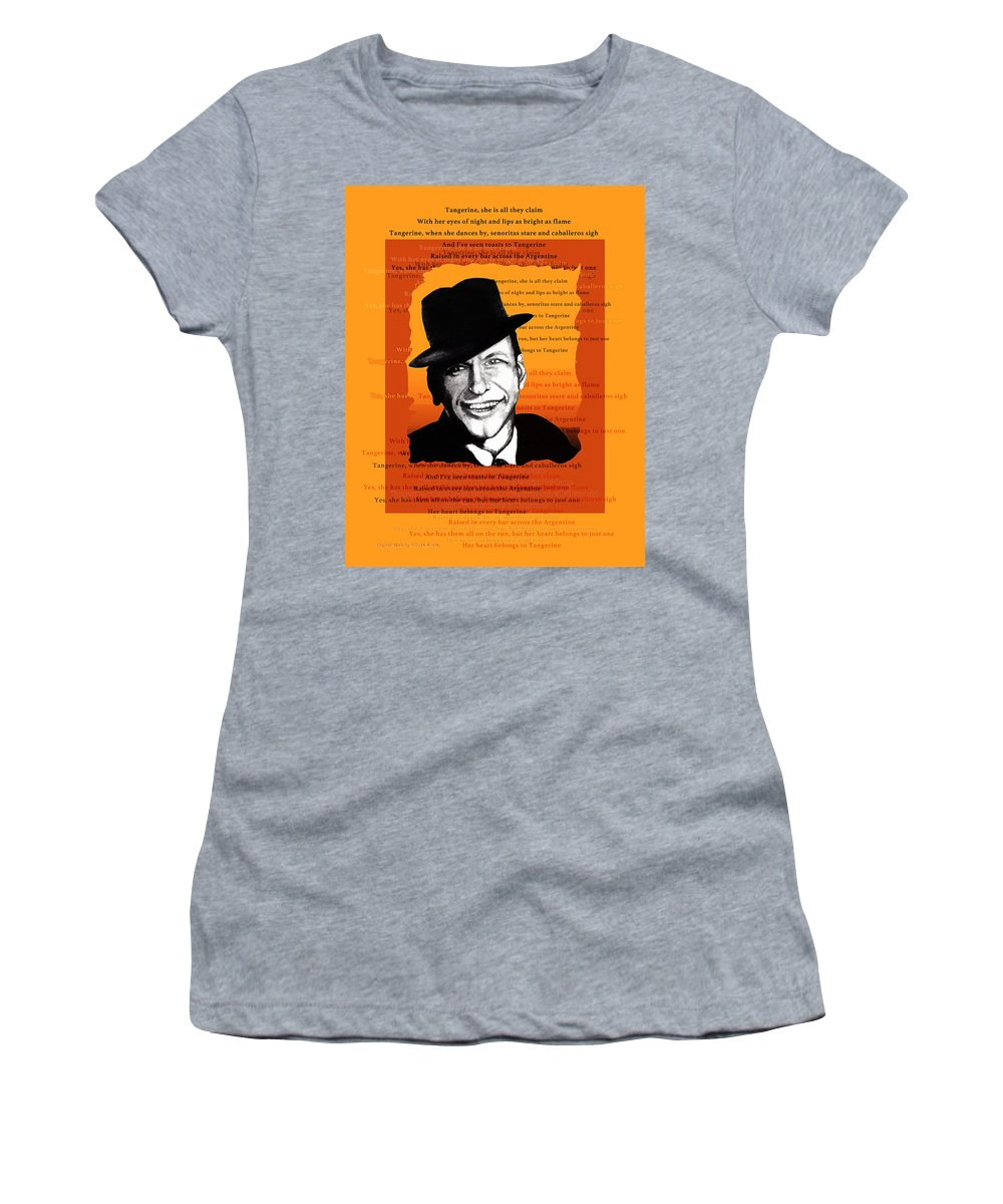 Frank Sinatra Women's T-Shirt (Athletic Fit) featuring the digital art Tangerine Swing by Christopher Korte
