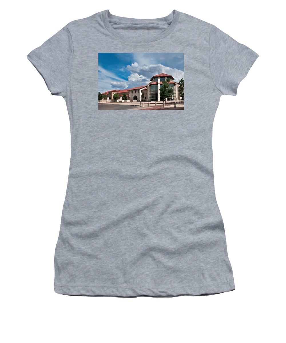 Texas Tech Student Union Women's T-Shirt featuring the photograph Texas Tech Student Union by Mae Wertz