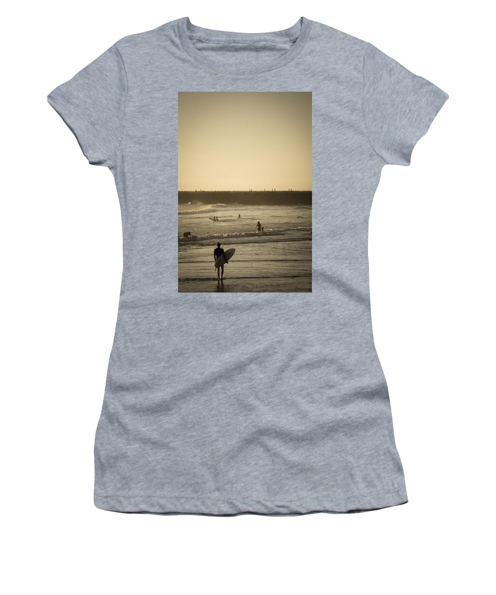 Beach Women's T-Shirt featuring the photograph The Boys Of Summer by Peter Tellone