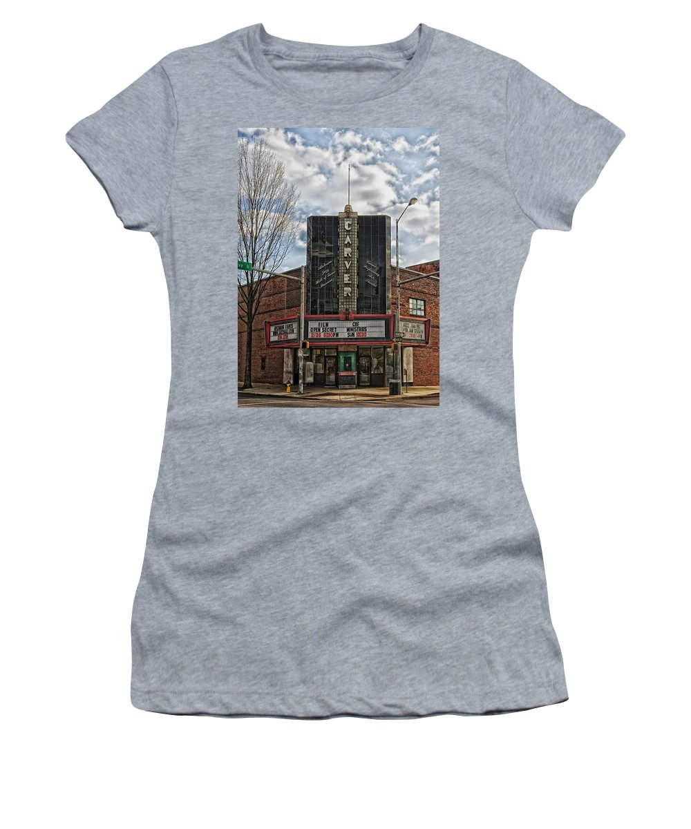 Birmingham Women's T-Shirt featuring the photograph The Carver Theatre In Birmingham Alabama by Mountain Dreams