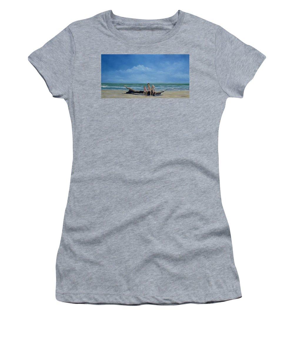 Heirloom Art Women's T-Shirt featuring the painting The Castaways by Karen Butcher
