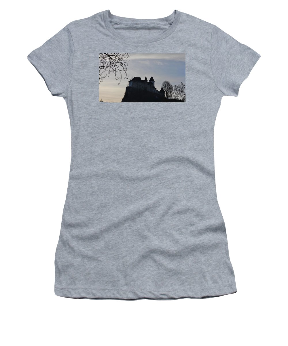 Fortress Women's T-Shirt featuring the photograph The Dark Side Of The Castle by Felicia Tica