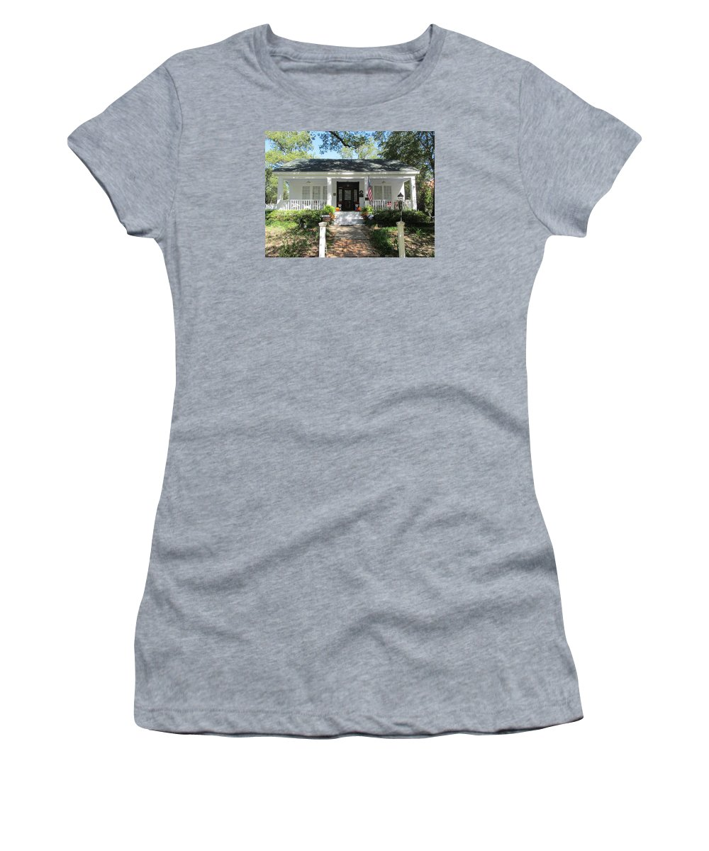 The Grove House Women's T-Shirt featuring the photograph The Haunted Grove Home by Donna Wilson