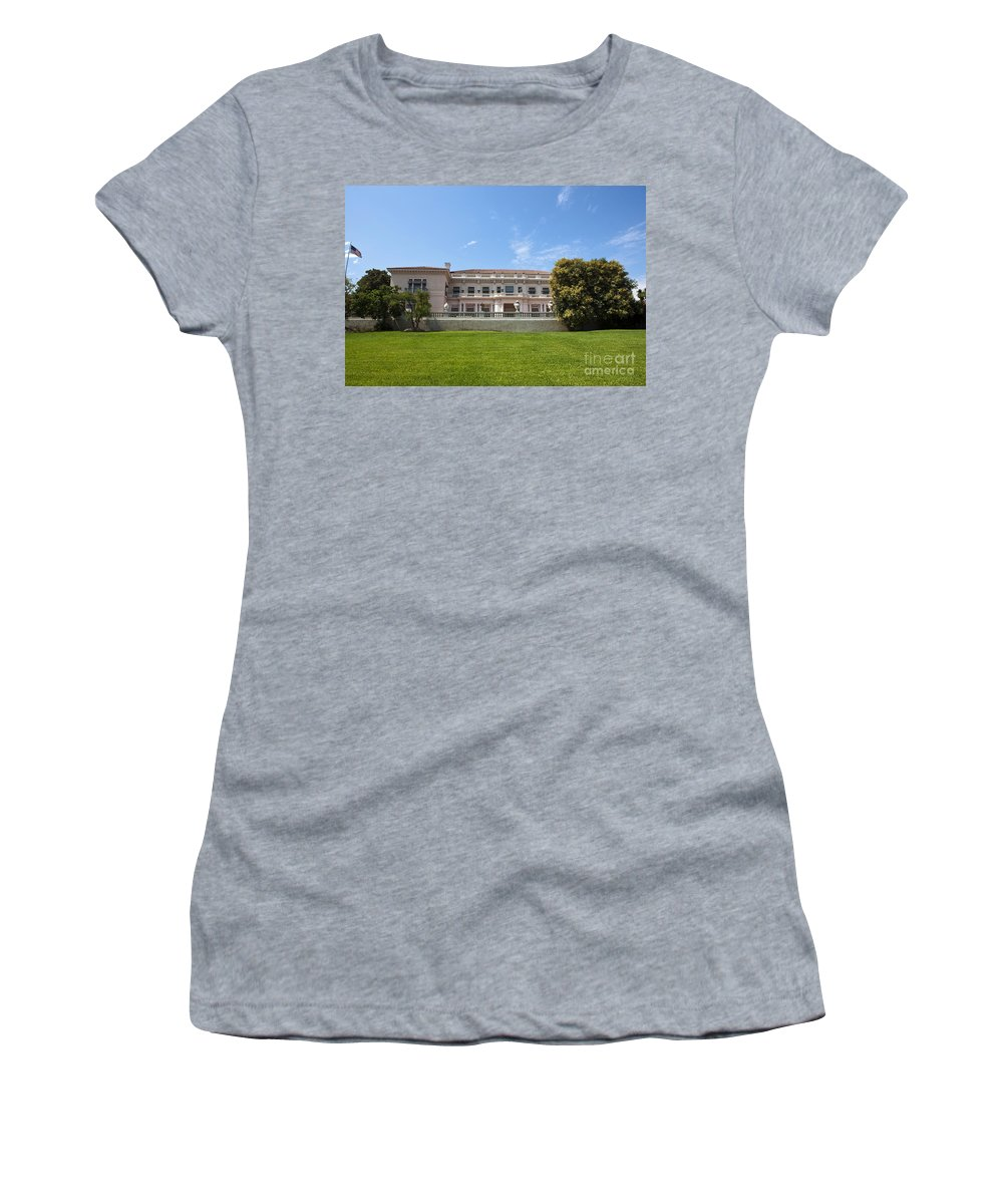 Huntington Library Women's T-Shirt featuring the photograph The Huntington Library House And Art Gallery by Jason O Watson