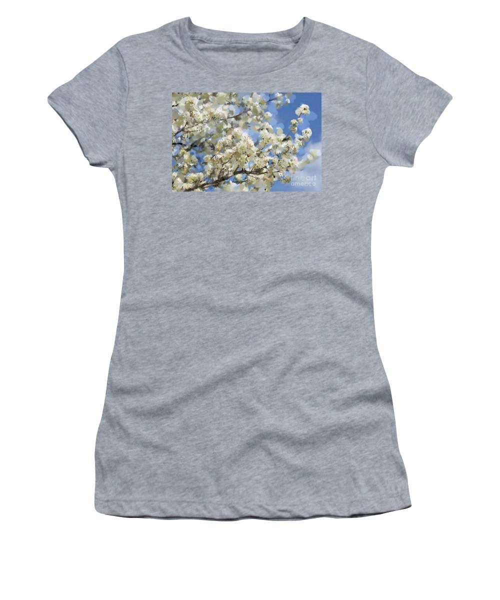 Tree Women's T-Shirt (Athletic Fit) featuring the photograph The Language Of Spring by Betty LaRue