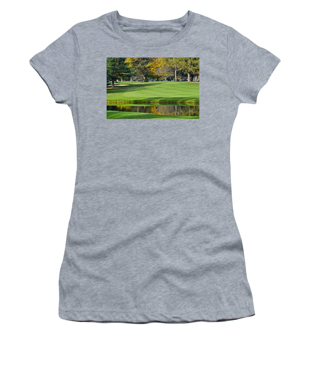 Tree Women's T-Shirt (Athletic Fit) featuring the photograph The Layup by Frozen in Time Fine Art Photography