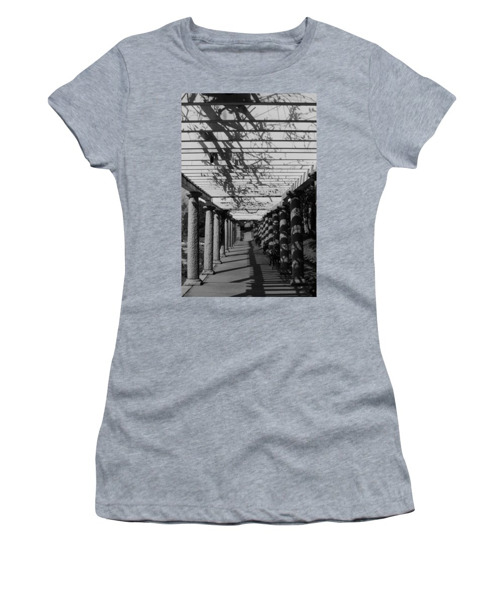 Bw Women's T-Shirt (Athletic Fit) featuring the photograph The Long Walk by Stacy Abbott