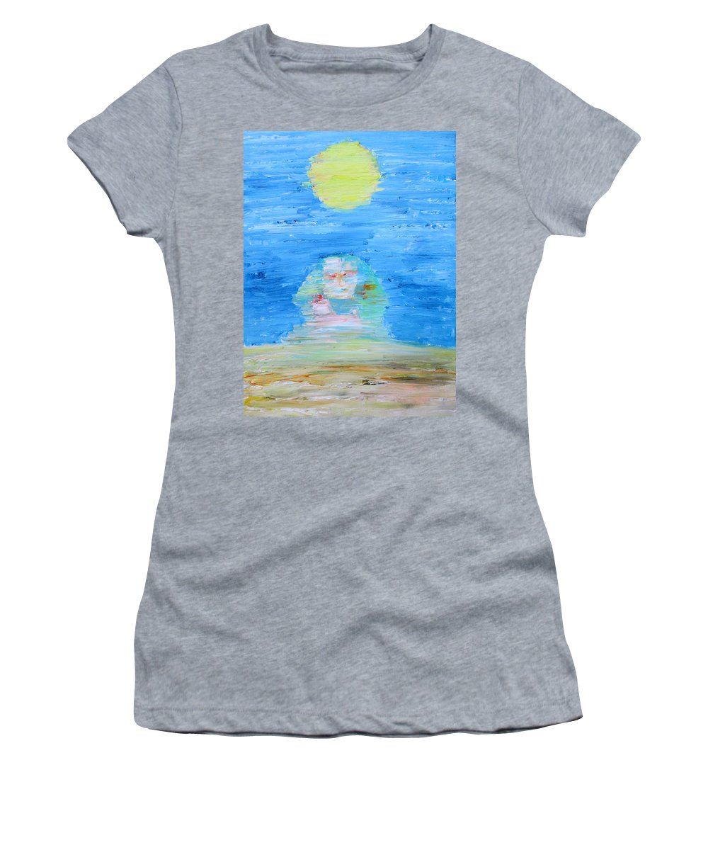 Sphinx Women's T-Shirt featuring the painting The Mighty Sphinx by Fabrizio Cassetta