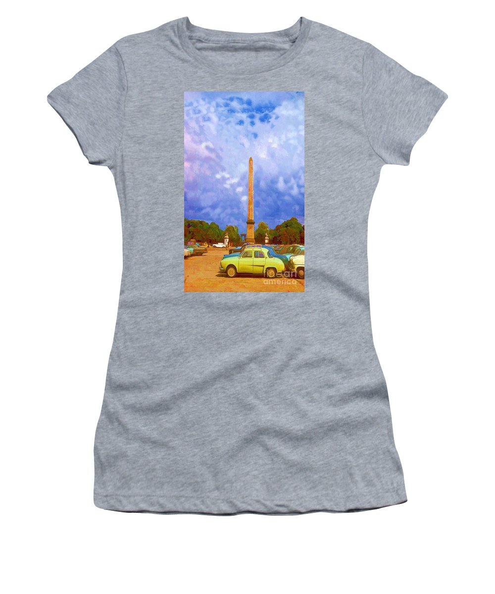 Monument Women's T-Shirt featuring the photograph The Monument's Parking Lot Digital Art By Cathy Anderson by Cathy Anderson