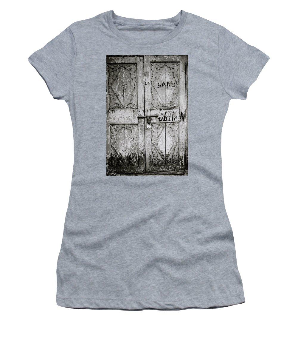Mattancherry Women's T-Shirt featuring the photograph The Old Door by Shaun Higson