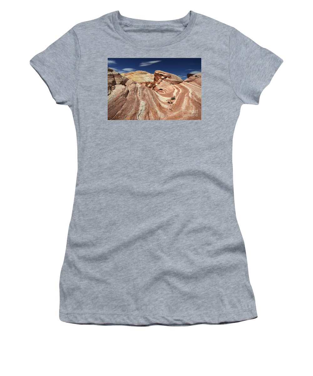 Valley Of Fire Women's T-Shirt featuring the photograph The Purple Wave 2 by Bob Christopher