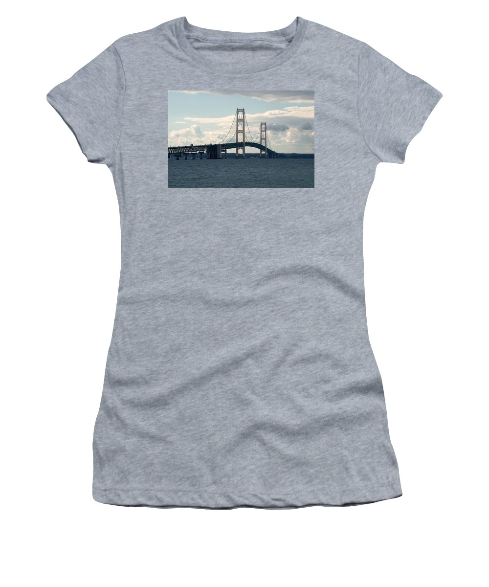 Clouds Women's T-Shirt (Athletic Fit) featuring the photograph The Span by Linda Kerkau