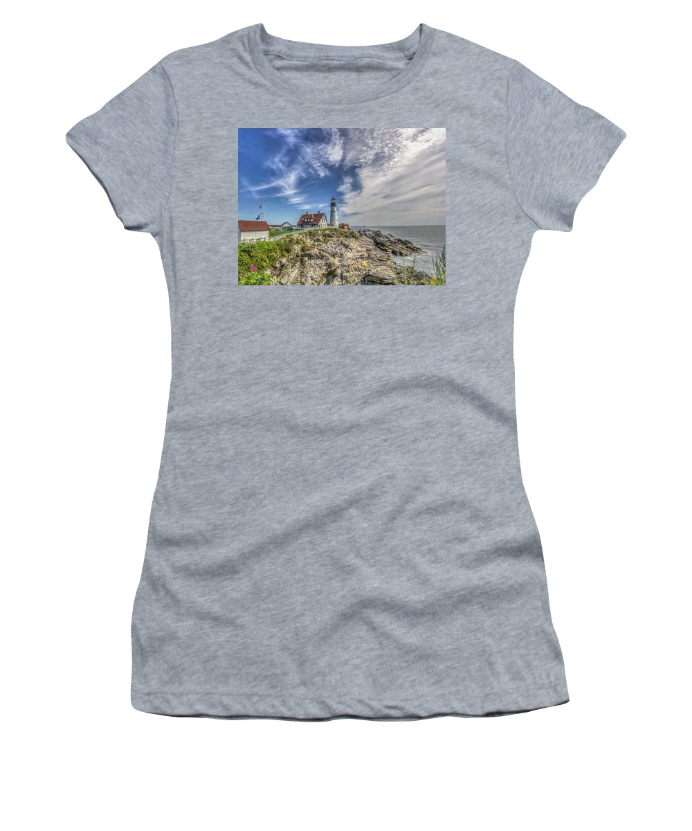 Maine Women's T-Shirt featuring the photograph The Storm Approaches by Jane Luxton