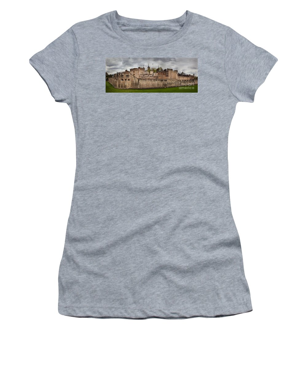 London Women's T-Shirt featuring the photograph The Tower Of London Uk The Historic Royal Palace by Michal Bednarek