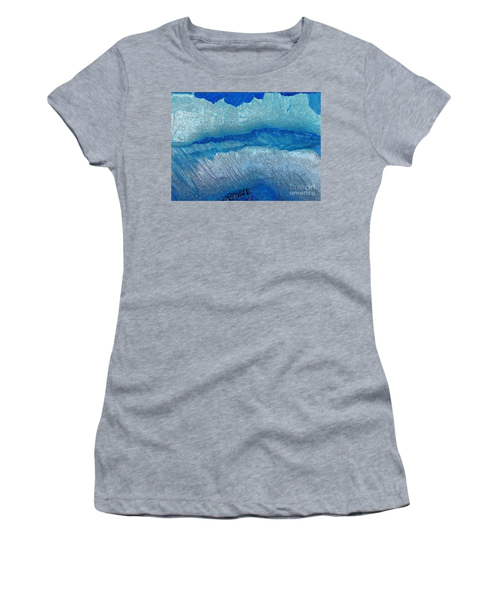 First Star Art By Jrr Women's T-Shirt (Athletic Fit) featuring the painting The Vanishing By Jrr by First Star Art