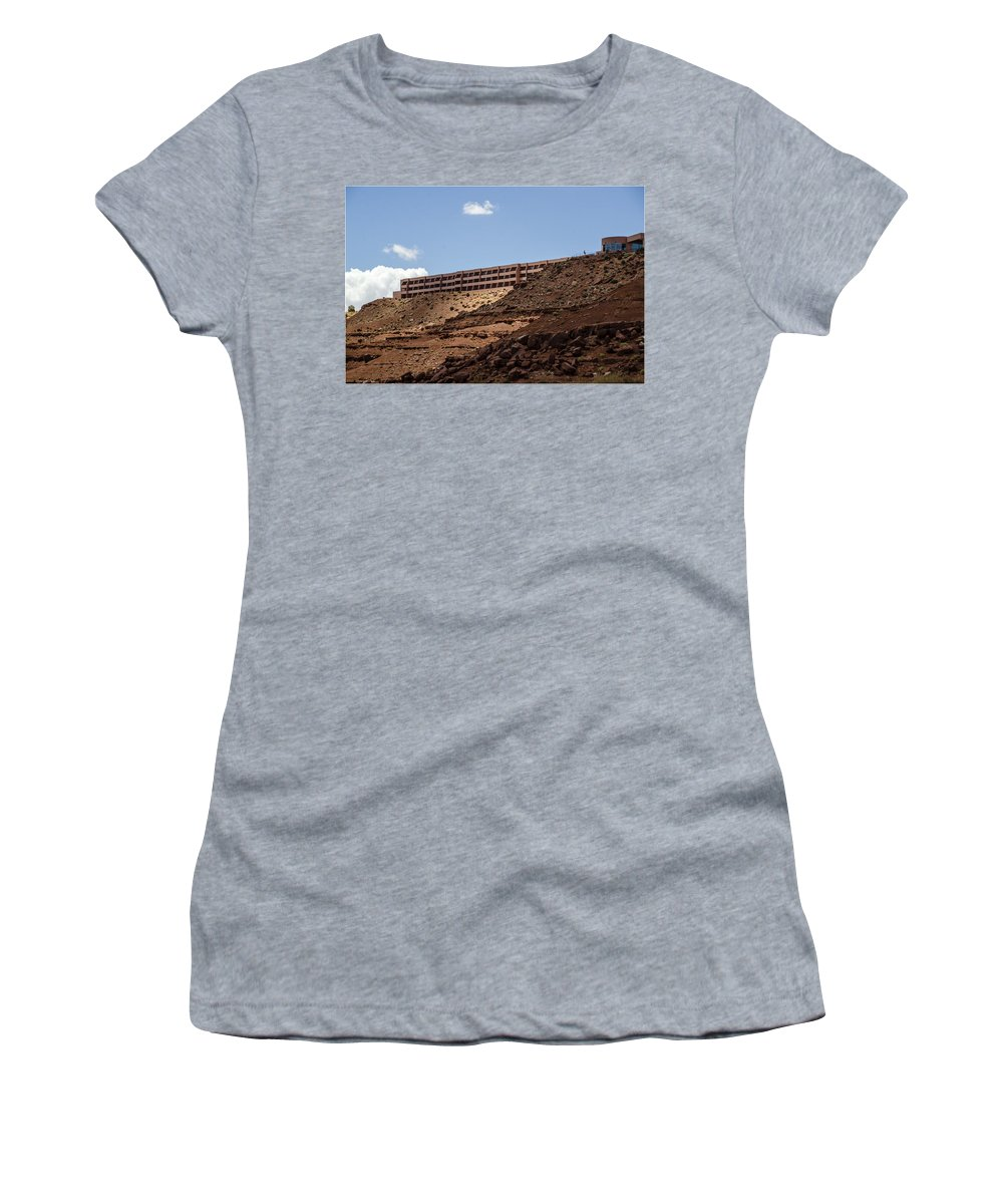 Landscape Women's T-Shirt featuring the photograph The View Hotel - Monument Valley - Arizona by Jon Berghoff