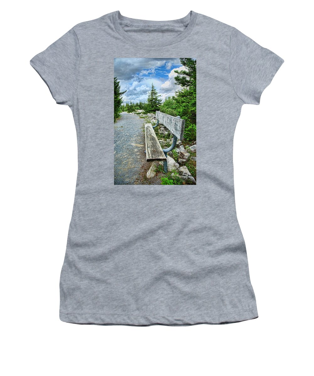 Bench Women's T-Shirt (Athletic Fit) featuring the digital art The Way by Anita Hubbard