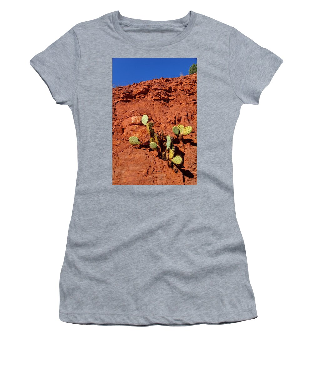 Cactus Women's T-Shirt featuring the photograph The Will To Live by Deb Buchanan