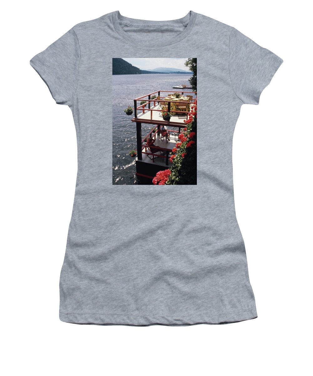 Home Women's T-Shirt featuring the photograph The Wyker's Deck by Ernst Beadle