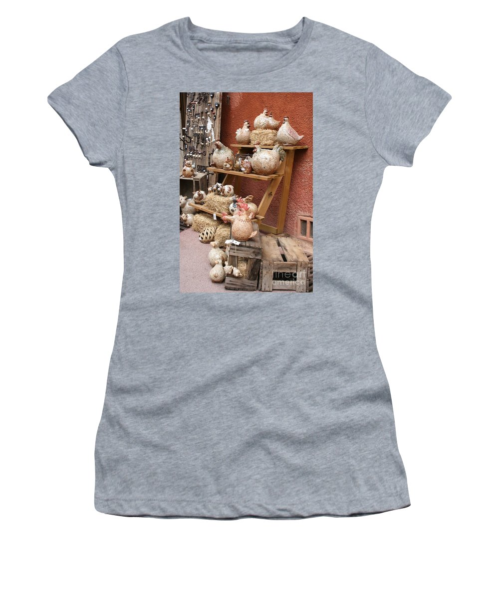 Pottery Women's T-Shirt (Athletic Fit) featuring the photograph This And That by Christiane Schulze Art And Photography