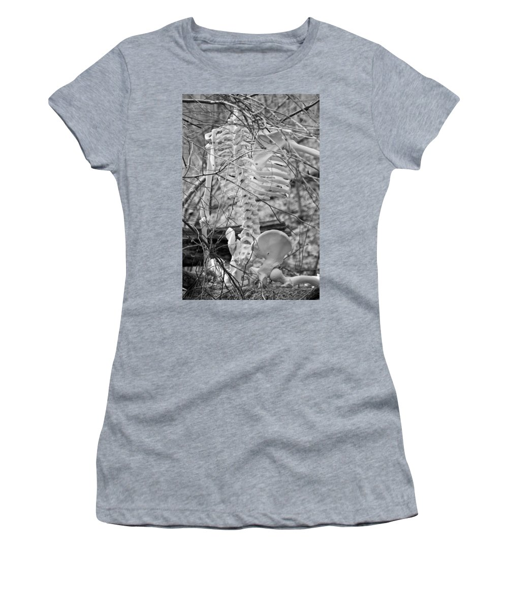 Human Women's T-Shirt featuring the photograph This Is Your Spinal Notice by Betsy Knapp