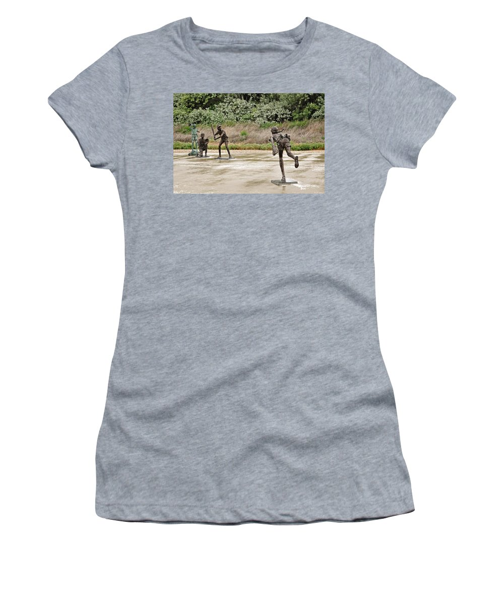 Melba Women's T-Shirt featuring the photograph Throw The Ball by Image Takers Photography LLC