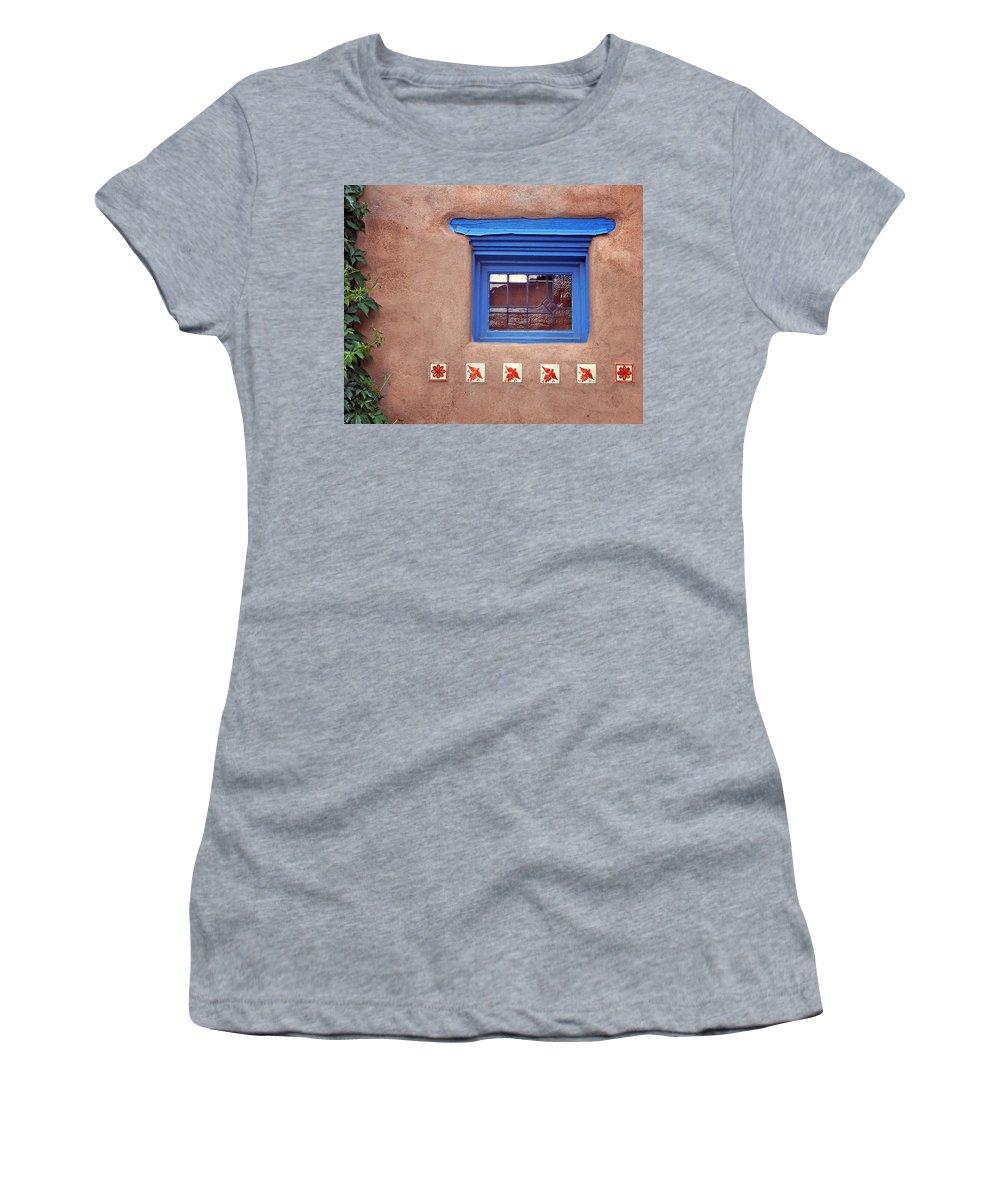 Window Women's T-Shirt featuring the photograph Tiles Below Window by Nikolyn McDonald