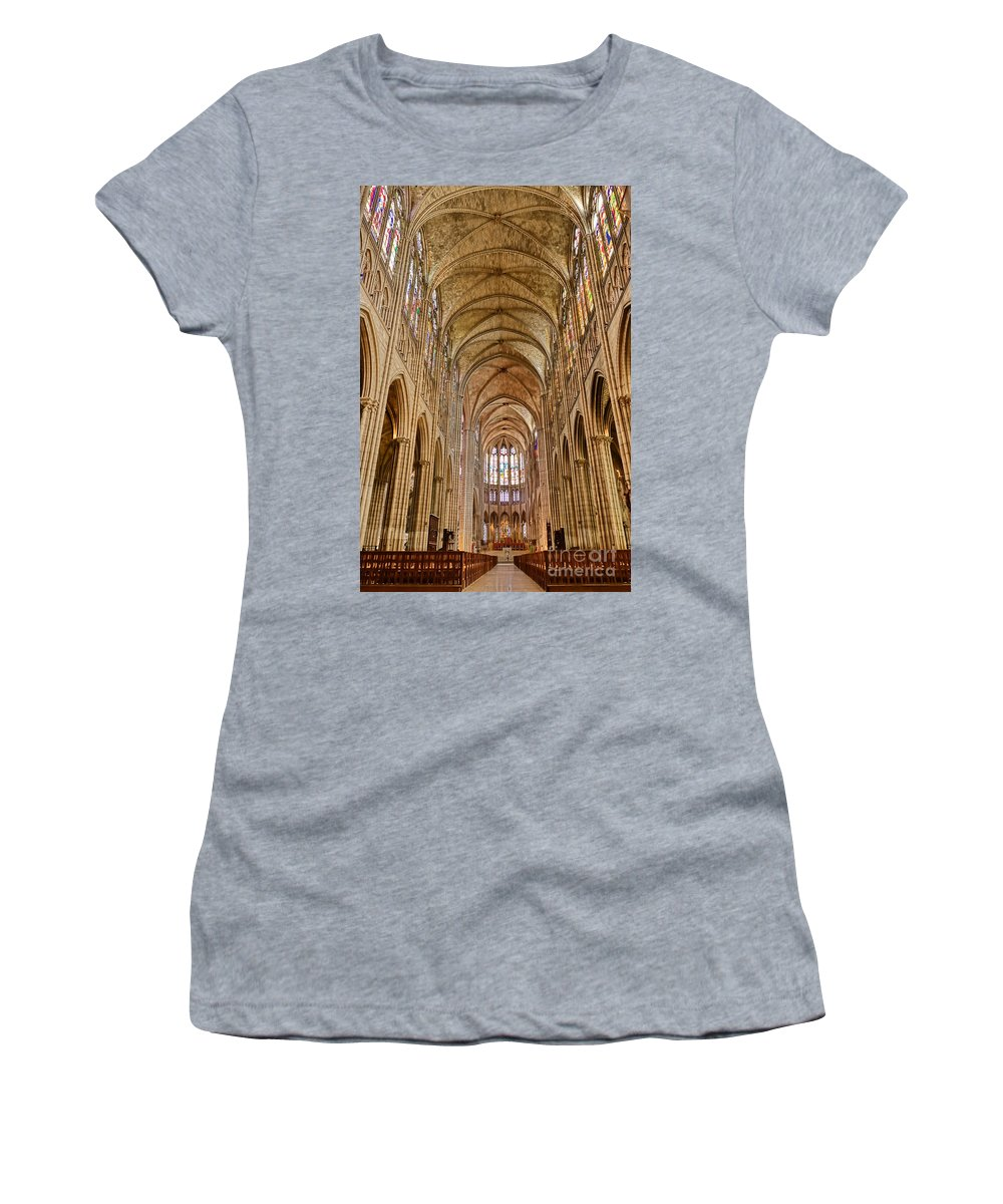 France Women's T-Shirt (Athletic Fit) featuring the photograph Timeless Gothic by Olivier Le Queinec