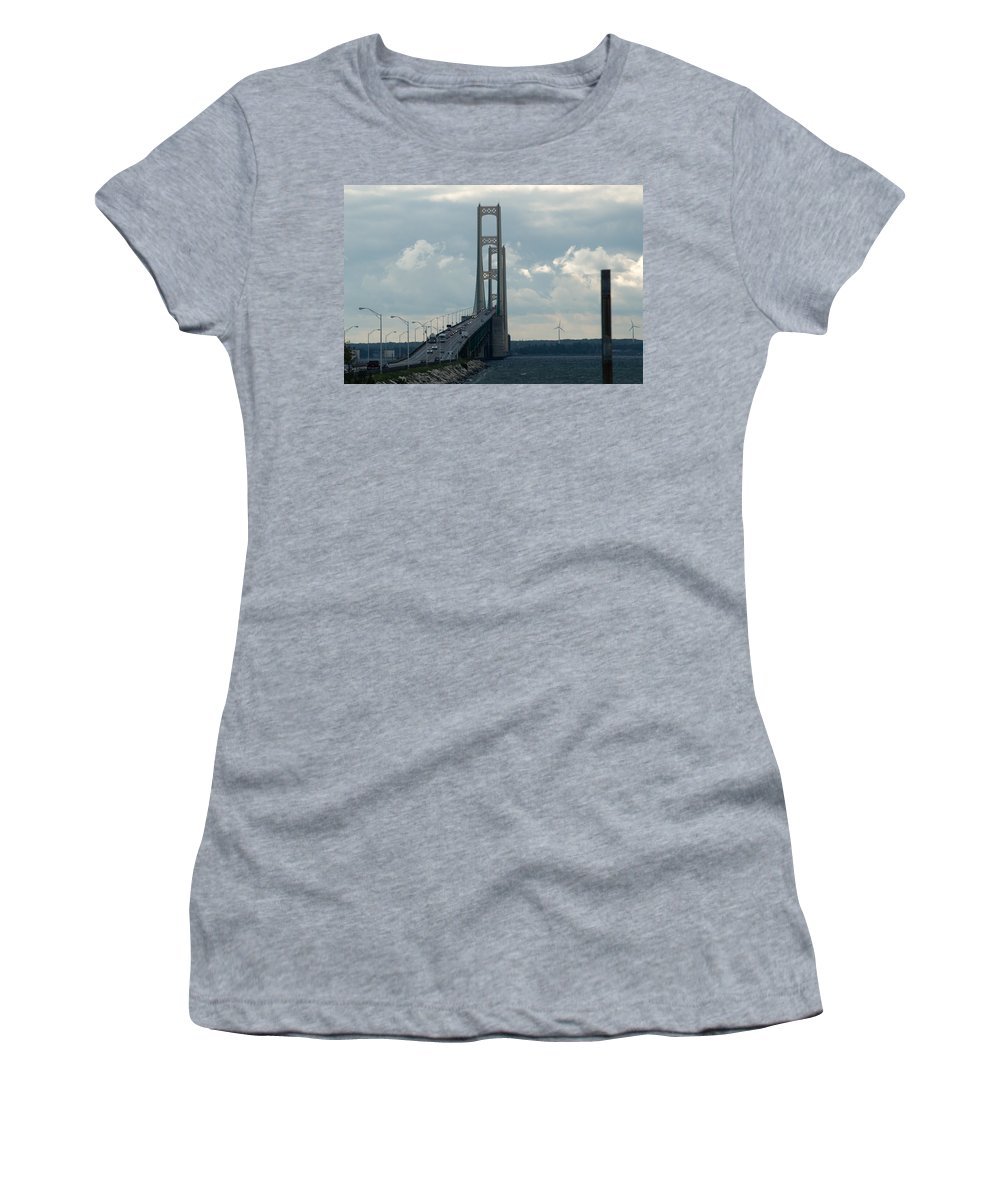 Clouds Women's T-Shirt (Athletic Fit) featuring the photograph To The Top by Linda Kerkau