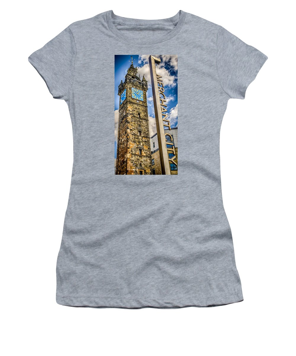 Architecture Women's T-Shirt featuring the photograph Tollbooth Clock Tower Glasgow by Gareth Burge Photography