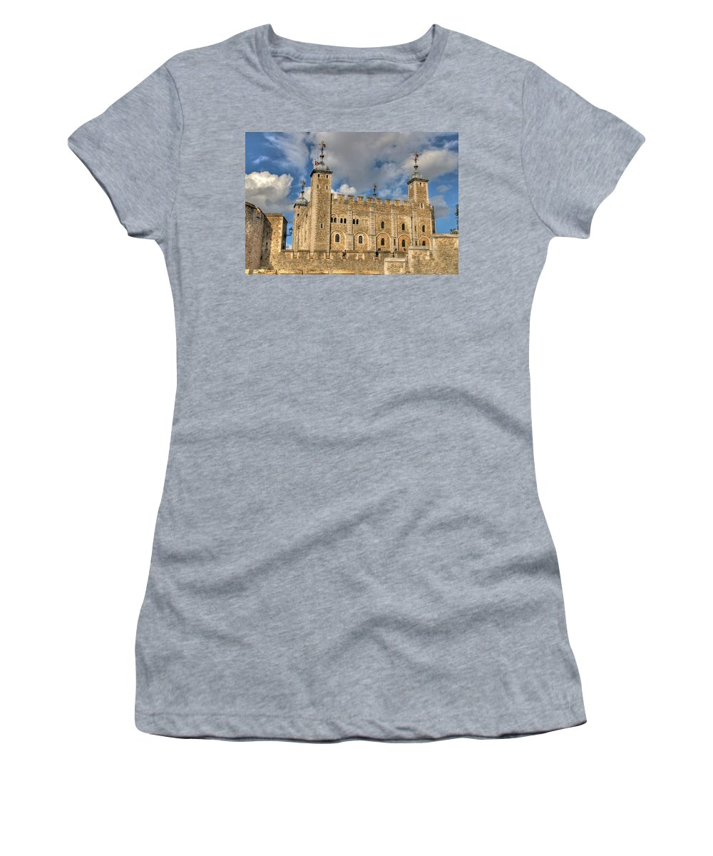 Hdr Women's T-Shirt featuring the photograph Tower Of London by Lee Nichols