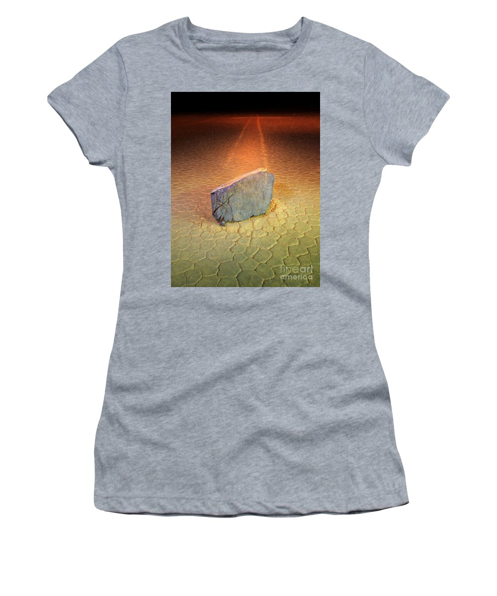 Racetrack Women's T-Shirt featuring the photograph Trail Of Mystery by Bob Christopher