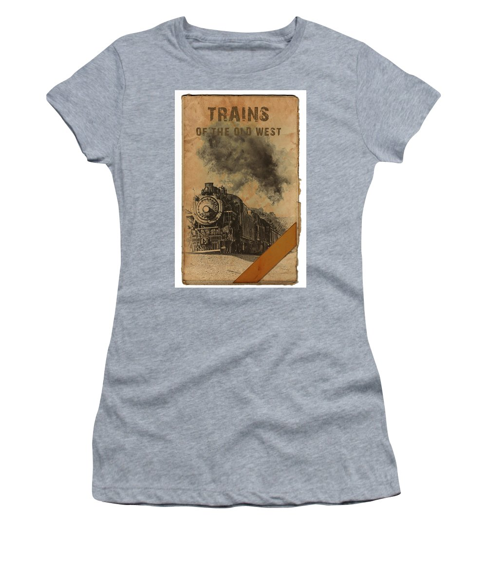 Tennessee Valley Railroad Women's T-Shirt featuring the digital art Trains Of The Old West by John Haldane