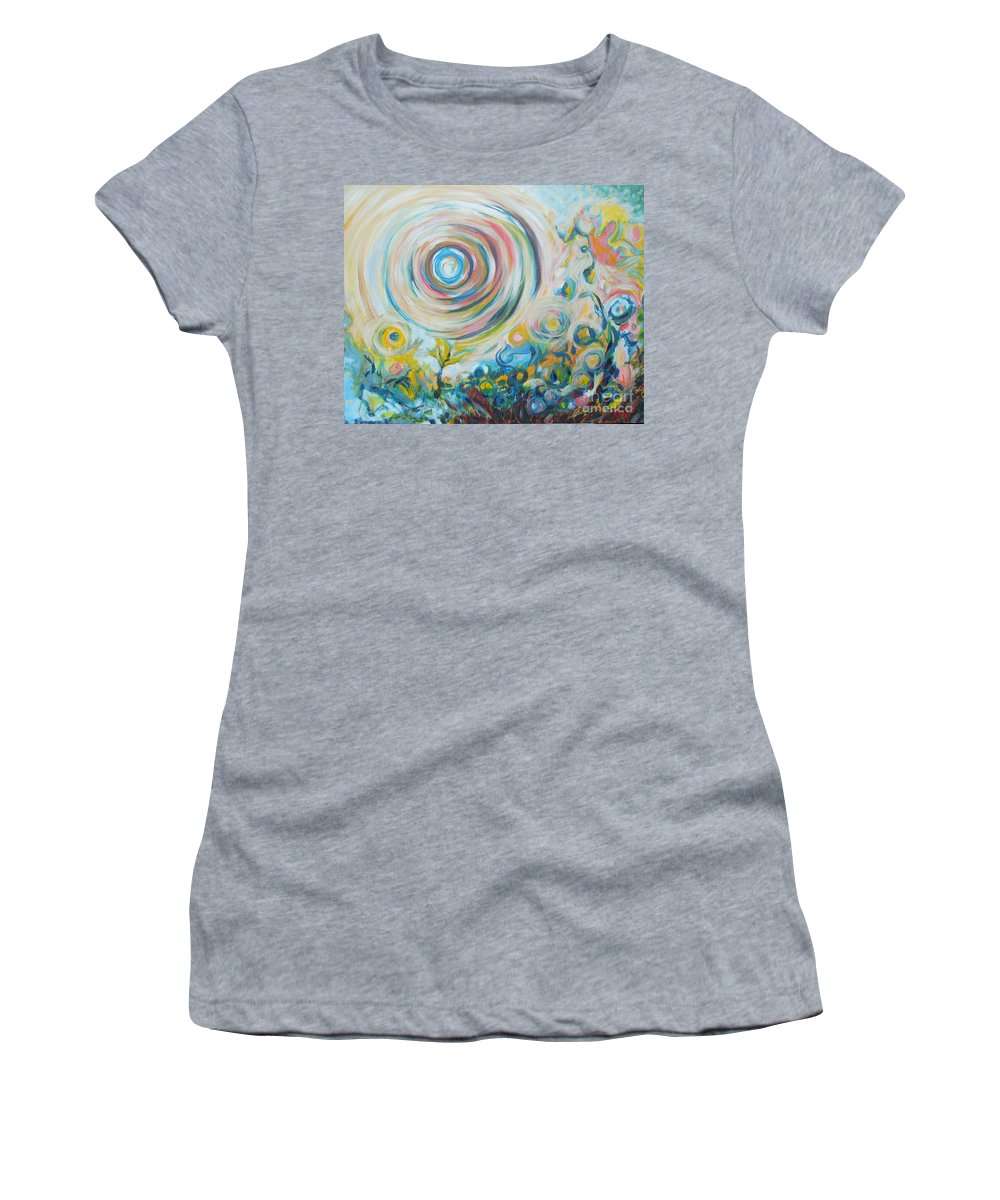 Abstract Women's T-Shirt featuring the painting Tribute To Gary by Tonya Henderson