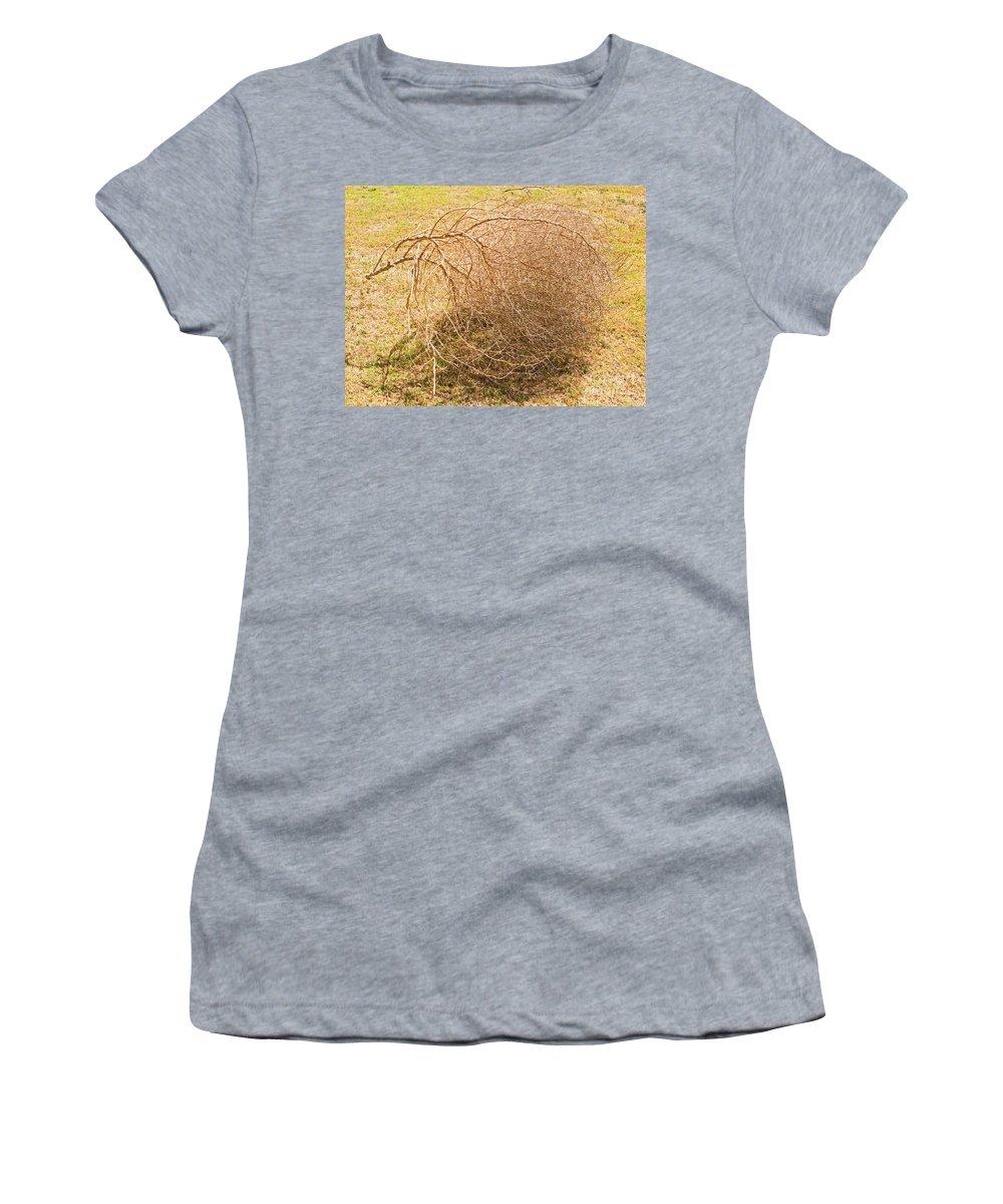 Nature Women's T-Shirt featuring the photograph Tumbleweed by Millard H. Sharp