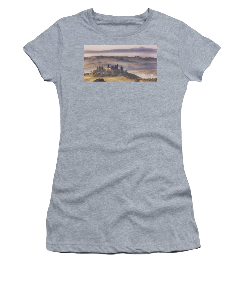 Michele Women's T-Shirt featuring the photograph Tuscan Morning by Michele Steffey