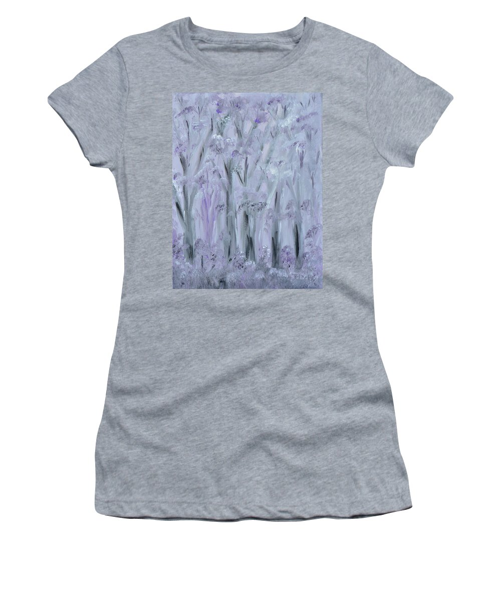 Forest Women's T-Shirt featuring the painting Twilight Forest by Donna Blackhall